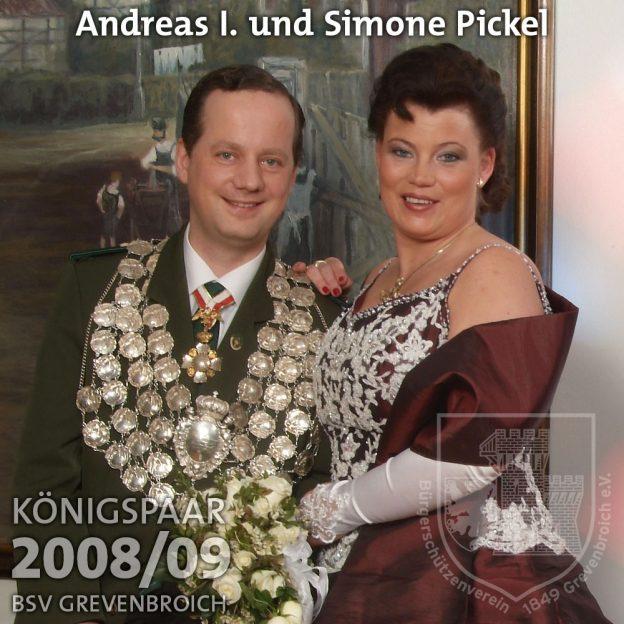 Schützenkönigspaar 2008/09: Andreas I. und Simone Pickel
