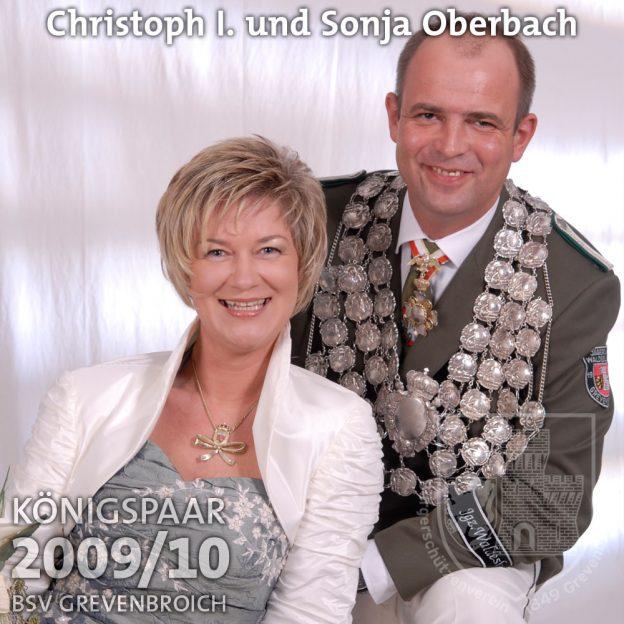 Schützenkönigspaar 2009/10: Christoph I. und Sonja Oberbach