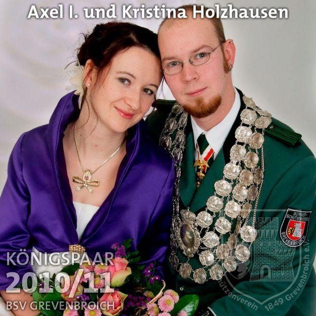 Schützenkönigspaar 2010/11: Axel I. und Kristina Holzhausen
