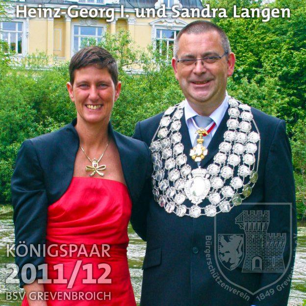 Schützenkönigspaar 2011/12: Heinz-Georg I. und Sandra Langen