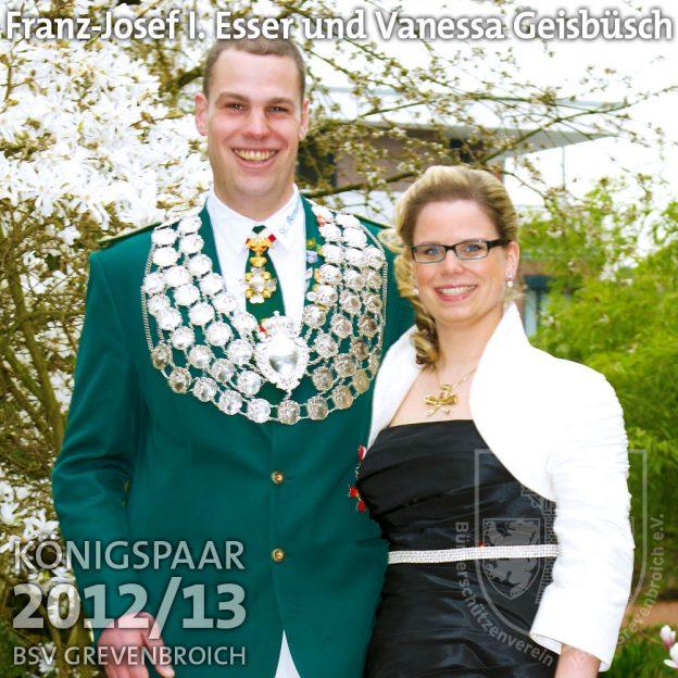 Schützenkönigspaar 2012/13: Franz-Josef I. Esser und Vanessa Geisbüsch