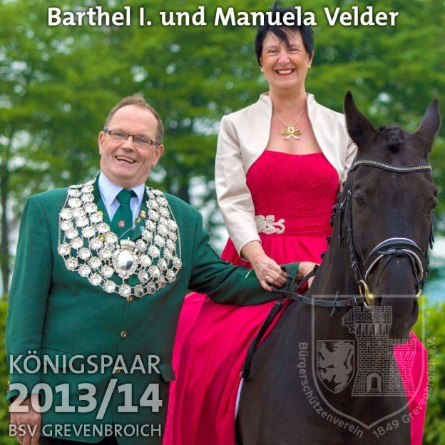 Schützenkönigspaar 2013/14: Barthel I. und Manuela Velder