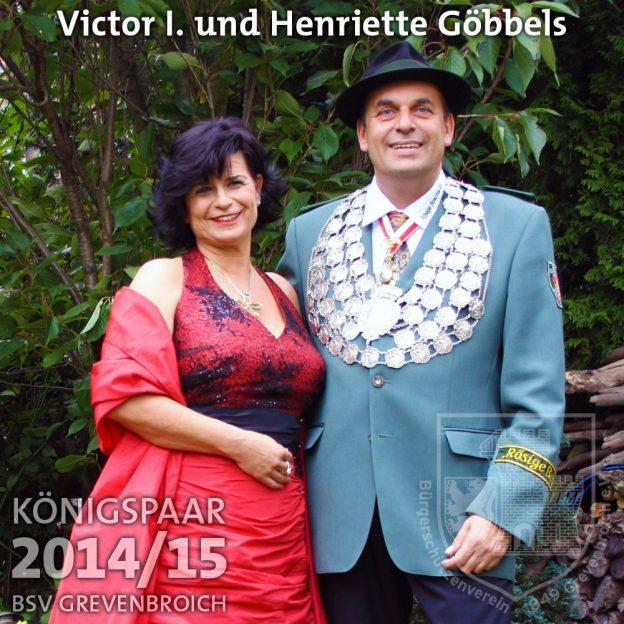 Schützenkönigspaar 2014/15: Victor I. und Henriette Göbbels