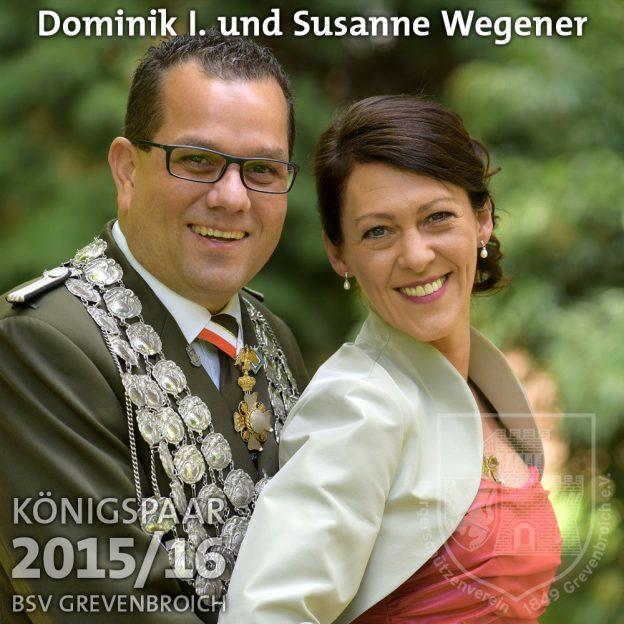 Schützenkönigspaar 2015/16: Dominik I. und Susanne Wegener