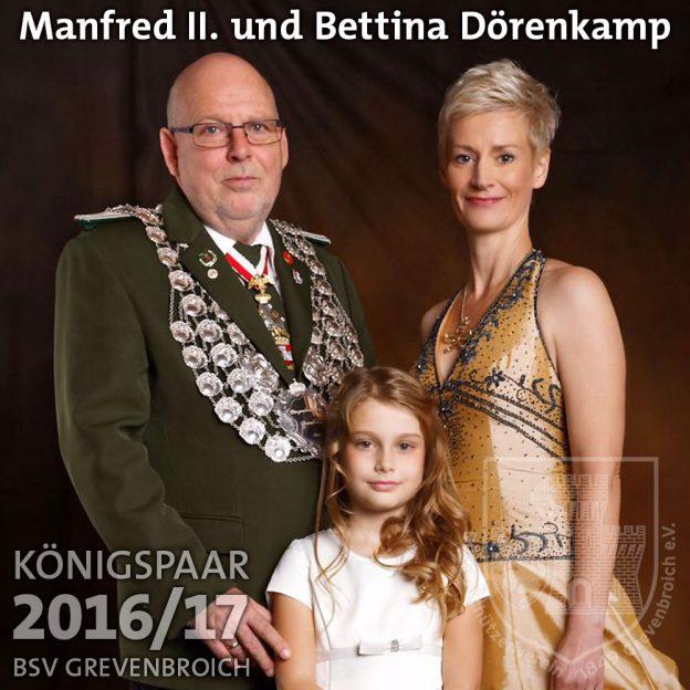 Schützenkönigspaar 2016/17: Manfred II. und Bettina Dörenkamp