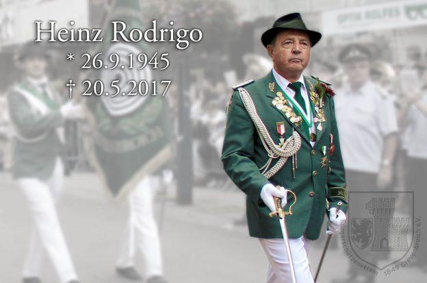 Heinz Rodrigo, 26.9.1945 - 20.5.2017
