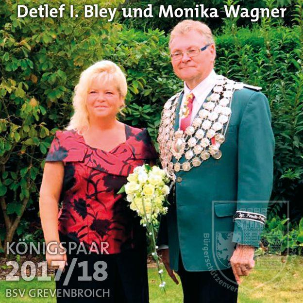 Schützenkönigspaar 2017/18: Detlef I. Bley und Monika Wagner