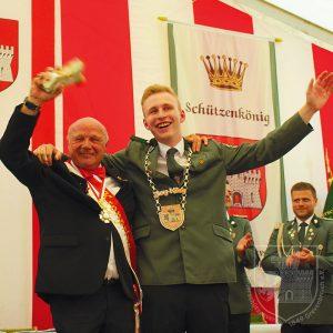 BSV-Kronprinz Dieter Minkenberg und Jung-König Julian Flintz.