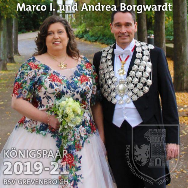 Schützenkönigspaar 2019-21: Marco I. und Andrea Borgwardt