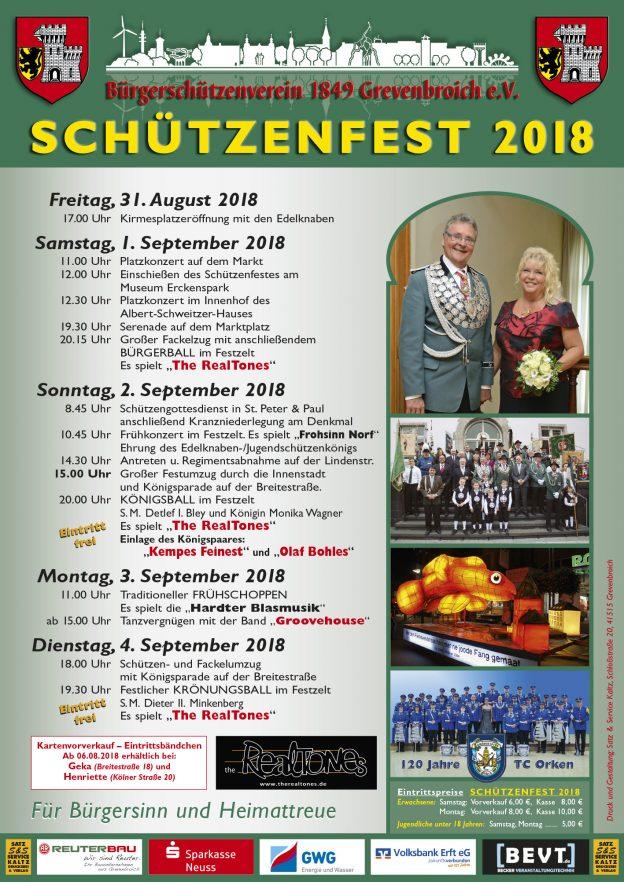 Das offizielle Schützenfest-Plakat 2018.