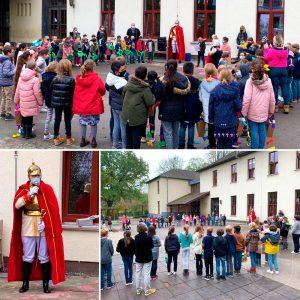 Der St. Martin besuchte die Kinder der Grundschule.